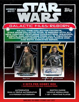 Star Wars Galactic Files: Reborn Hobby 12-Box Case (Topps 2017) (Presell)