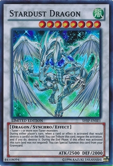 Yu-Gi-Oh Shadow Specters Special Edition Promo Single Stardust Dragon - NEAR MINT (NM)