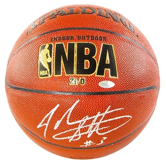 John Starks Autographed New York Knicks NBA Basketball (Steiner COA)