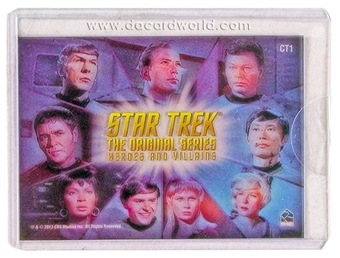 2013 Rittenhouse Star Trek The Original Series Heroes and Villains Montage Case Toppers #CT1 Heroes Montage