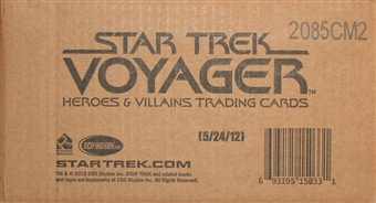 Star Trek: Voyager Heroes & Villains 12-Box Case (Rittenhouse 2015)