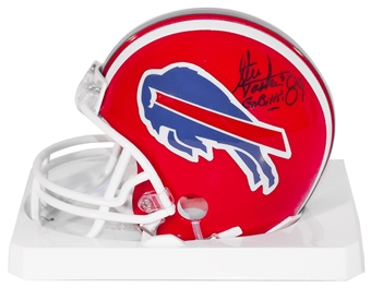 Steve Tasker Autographed Buffalo Bills Football Mini Helmet