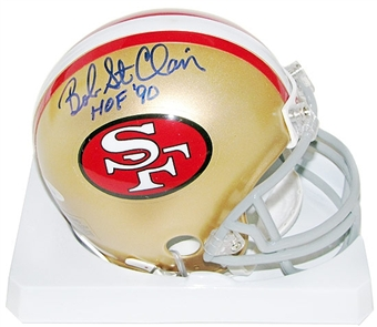 Bob St. Clair Autographed San Francisco 49ers Football Mini Helmet