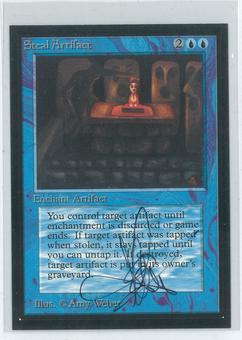 Magic the Gathering Beta Artist Proof Steal Artifact - SIGNED AND ALTERED BY AMY WEBER