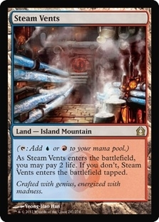 Magic the Gathering Return to Ravnica Single Steam Vents - NEAR MINT (NM)