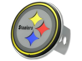 "Pittsburgh Steelers Rico Industries 4 "" Laser Trailer Hitch Cover"