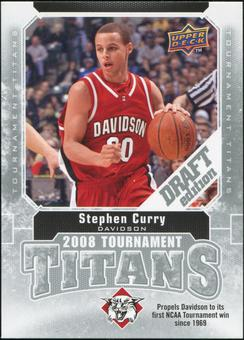 2009/10 Upper Deck Draft Edition Tournament Titans #TTSC Stephen Curry Rookie