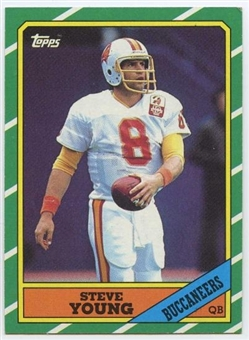 1986 Topps Football #374 Steve Young Rookie Card (NM or Better)