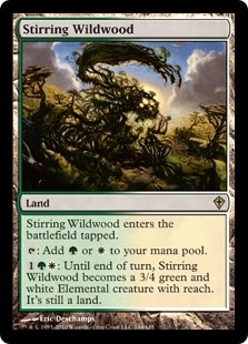 Magic the Gathering Worldwake Single Stirring Wildwood - SLIGHT PLAY (SP)