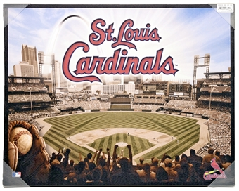 St Louis Cardinals Artissimo Glory Busch Stadium 22x28 Canvas