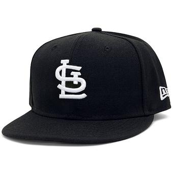 St. Louis Cardinals New Era 59Fifty Fitted Black Hat (7 1/4)