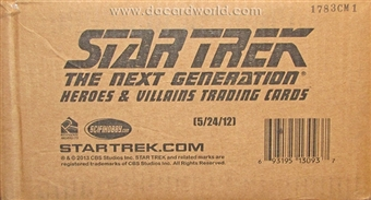Star Trek: The Next Generation Heroes & Villains Trading Card 12-Box Case (Rittenhouse 2013)