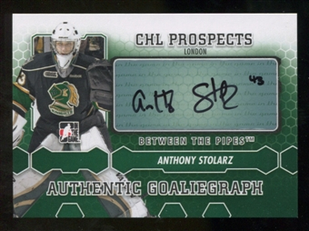 2012/13 In the Game Between The Pipes Autographs #AAS Anthony Stolarz Autograph