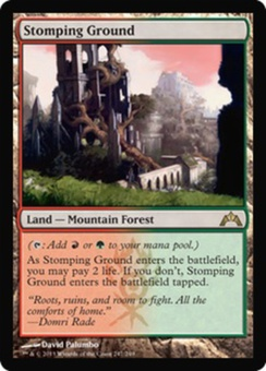 Magic the Gathering Gatecrash Single Stomping Ground Foil