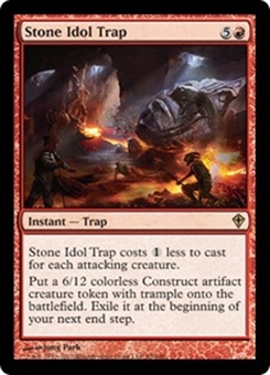 Magic the Gathering Worldwake Single Stone Idol Trap - NEAR MINT (NM)