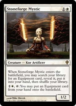 Magic the Gathering Worldwake Single Stoneforge Mystic LIGHT PLAY (NM)