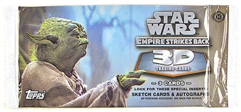 Star Wars Empire Strikes Back 3D Trading Cards Hobby Pack (2010 Topps)
