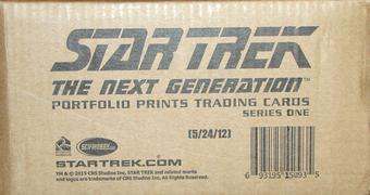 Star Trek: The Next Generation Portfolio Prints 12-Box Case (Rittenhouse 2015)
