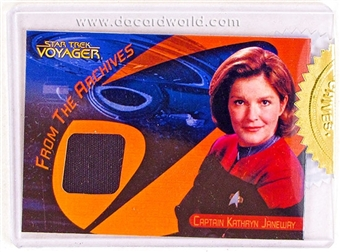 The Quotable Star Trek: Voyager Kate Mulgrew as Captain Janeway Costume Relic Card