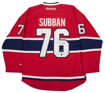 P.K. Subban Autographed Montreal Canadiens Hockey Jersey Frozen Pond