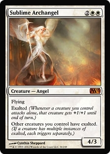 Magic the Gathering 2013 Single Sublime Archangel Foil