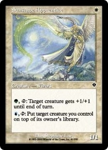 Magic the Gathering Invasion Single Sunscape Apprentice Foil