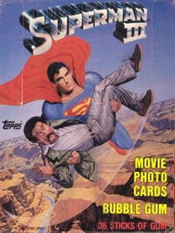 Superman III The Movie Wax Box (1983 Topps)