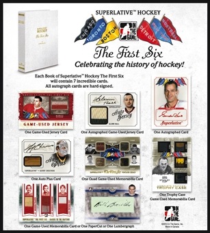 2013-14 In The Game Superlative The First Six Hockey Hobby 2-Box Case