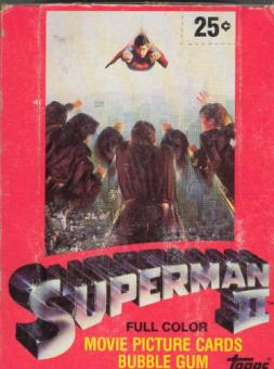 Superman II The Movie Wax Box (1980 Topps) (EX box, Mint packs)