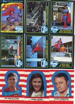 Superman 3 1983 Topps 99 Card Set + 22 Sticker Set