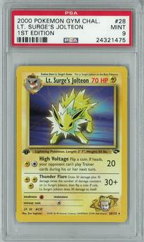 Pokemon Gym Challenge 1st edition Lt Surge's Jolteon 28/132 Rare PSA 9