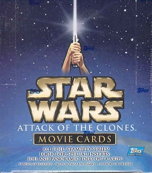Star Wars Attack of The Clones Movie Cards 36 Pack Box (2002 Topps)