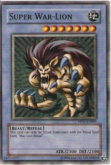 Yu-Gi-Oh Premium Pack 2 Single Super War-Lion Super Rare