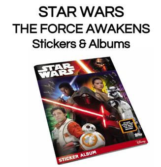 Star Wars: The Force Awakens Sticker Starter Kit (1 Album/36 Stickers) (Topps 2016)
