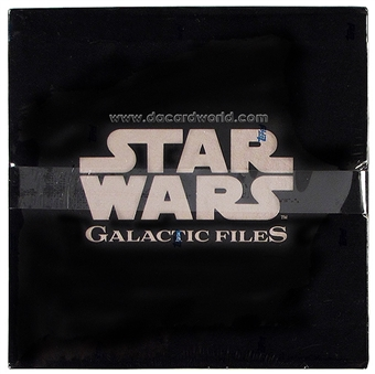 Star Wars Galactic Files Deluxe 1/1 Printing Plates + Update Box Set (2012 Topps)