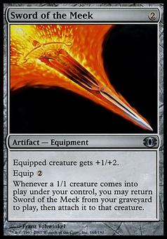 Magic the Gathering Future Sight Single Sword of the Meek FOIL - NEAR MINT (NM)
