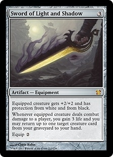 Magic the Gathering Modern Masters Single Sword of Light and Shadow FOIL - NEAR MINT (NM)