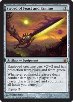 Magic the Gathering Mirrodin Besieged Single Sword of Feast and Famine FOIL NEAR MINT (NM)