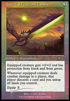 Magic the Gathering Promo Single Sword of Feast and Famine JUDGE FOIL - NEAR MINT (NM)