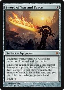 Magic the Gathering New Phyrexia Single Sword of War and Peace Foil - SLIGHT PLAY (SP)