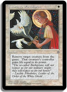 Magic the Gathering Ice Age Single Swords to Plowshares - MODERATE PLAY (MP)