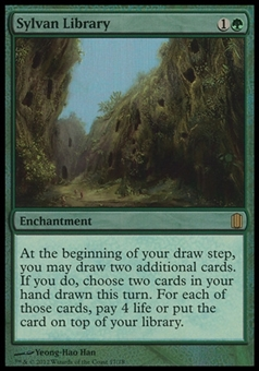 Magic the Gathering Commanders' Arsenal Single Sylvan Library Foil - NEAR MINT (NM)