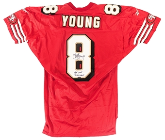 Steve Young Autographed San Francisco 49ers Reebok Proline Authentic Jersey (Tristar)