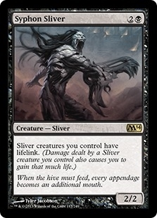 Magic the Gathering 2014 Single Syphon Sliver FOIL