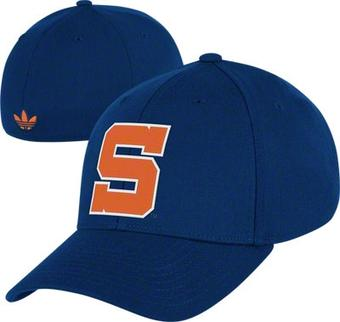 Syracuse Orangemen Adidas Originals Navy Vault Flex Hat (Adult S/M)