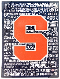 Syracuse Orange Typhography Artissimo 18x24 Canvas
