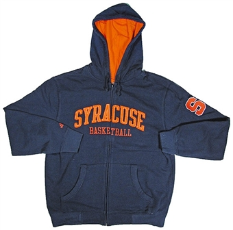 Syracuse Orangemen Basketball Navy Full Zip Hoodie (Size Medium)