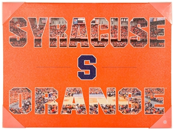 Syracuse Orange Artissimo Color Pride 24x18 Canvas