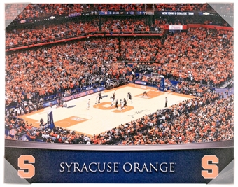 Syracuse Orange Artissimo Gradient Stadium Carrier Dome 22x28 Canvas