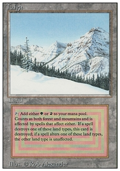 Magic the Gathering 3rd Ed (Revised) Single Taiga - MODERATE PLAY (MP)